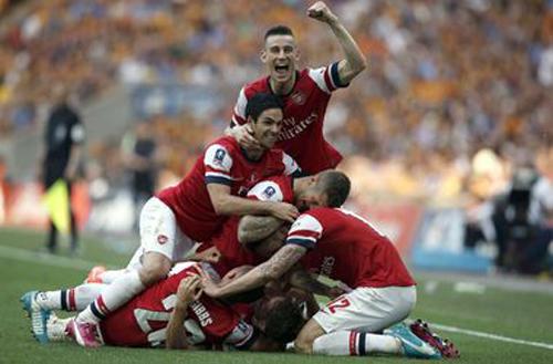 Арсенал выигрывает кубок англии