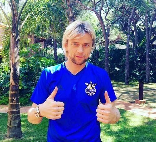 Тимощук— самый возрастной футболист сборной государства Украины