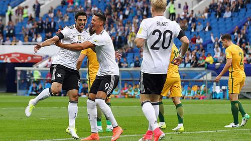 Неменее 28 тыс. болельщиков посетили матч Австралия— Германия вСочи