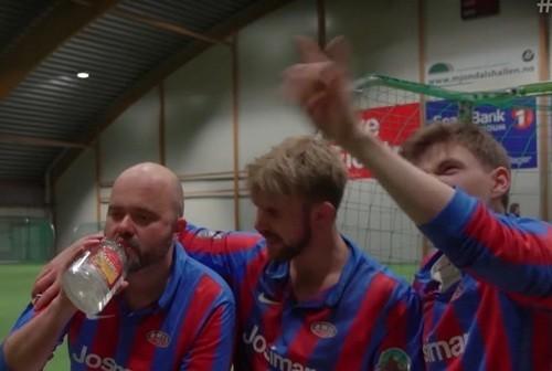 Норвежские футболисты-любители провели матч нетрезвыми
