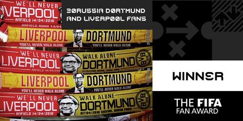 Болельщики дортмундской «Боруссии» и«Ливерпуля» признаны ФИФА лучшими болельщиками года