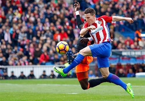 «Атлетико» разгромил «Валенсию» вматче чемпионата Испании